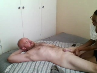 Real South African masseuse paid to give happy ending massage fuck
