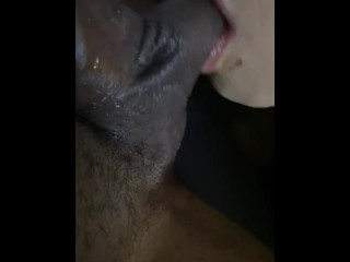 She spit it out sucked it back up and swallowed Best sloppy blow job  ever