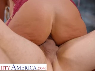 Naughty America - Mrs. Rider gets tricked into having sex with her student.