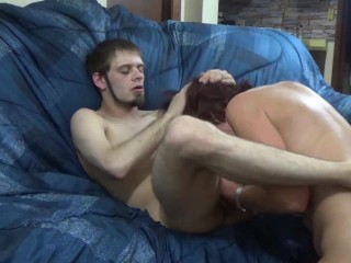 You asked, Shes Back! Big tits cougar eats young studs ass!