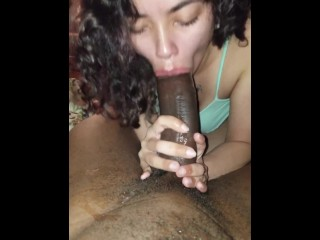 Sucking my step brothers dick so good I'm crying.