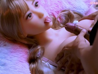 Titsfuck and facial cum on my cute doll 04