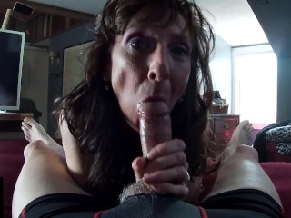 Sexy Granny Ass Banged Shows Cum Mouth