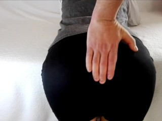 Spanking for Cute Ass wearing a black skirt. Naughty Teen schoolgirl