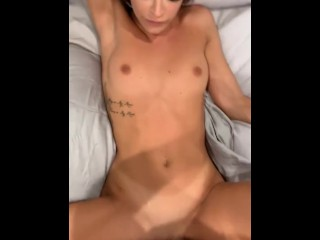 Fit fashion model fucks producer with a big dick and gets covered in cum for a spot on the runway