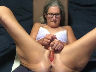 Hot Milf Spreads Pussy Plays With Her Rabbit And Gets Huge Butt Plug In Ass