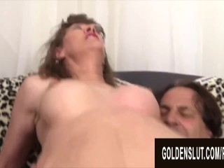 Golden Slut - Ramming Aunties Pussy in Reverse Cowgirl Compilation