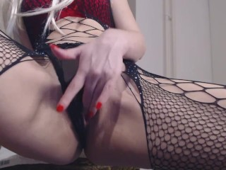 Pee in sexy Panties, Squirt and Pee Wet Pussy close up