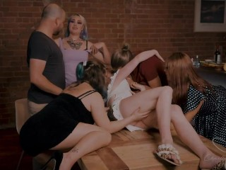 Charlie Forde has an orgy with her friends over dinner - TEASER TRAILER