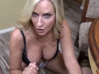 Blonde mature playing with my cock