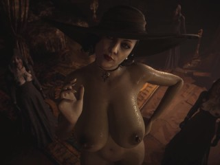 Resident Evil 8 - Nude Lady Dimitrescu & Daughters