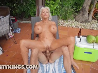 RealityKings - Busty Cougar Sally D'angelo Love Getting Her Pussy Banged Hard By Younger Dude
