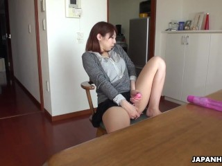 Japanese wife, Eri Fujino is masturbating, uncensored