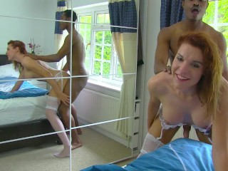 Hot transsexual girl gets fucked by a BBC and gets creampied