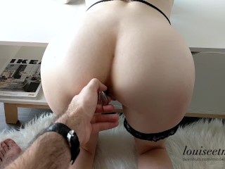 FREUTOY review + Hot ANAL sex scene and huge cumshot - couple amateur