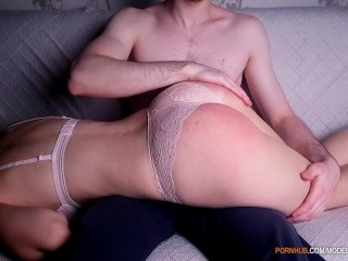 My Sexy Wife Loves It When I Spanking Her Big Ass Before Sex
