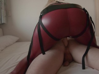 Hot Mistress Pegging Slave With Big Strapon