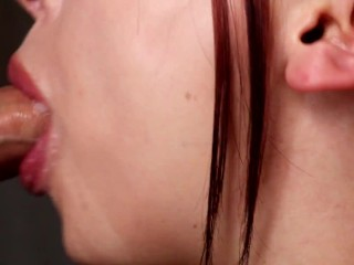 Intense Close-Up Hands Free Sloppy Blowjob - (Cum in Mouth, Hot & Sensual!)