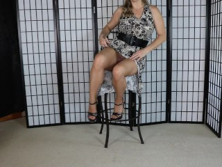 Naughty MILF in heels Stockings Legs and Feet onlyTease Leg Show for your Foot Fetish Series