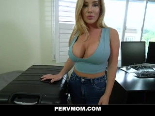 PervMom - Big Ass Step Mom Cheats With Her Huge Cock Stepson
