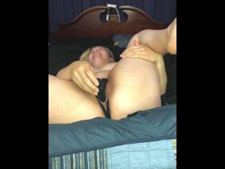 POV pussy play during awesome blowjob