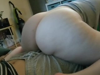 POV PAWG RIDES DICK UNTIL CUM. HUGE SEXY ASS WHITE GIRL.