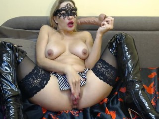 Handjob control for Sema. Posing and striptease in front of the camera. Taking cum in mouth