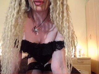 Tease and denial in transporent dress