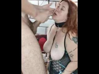 BBW Housewife Real Female ORGASM Throated playing with BDSM Toys HUGE Cumshot