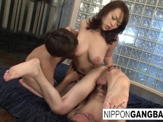 Sexy, Busty Japanese Slut Takes Several Cocks