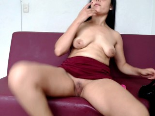 fingering and squirting all over my clothes after playing with my dildo and my pussy very rough