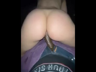 He fucked me with my monster BBC dildo