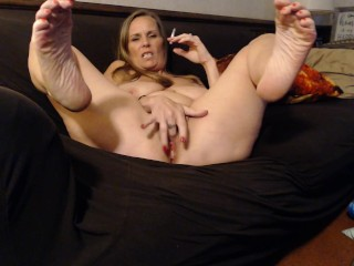 Smoking Milf -nothing turns me on like you stroking your hard cock