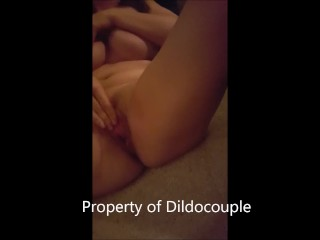 Swedish Milf with massive fake 34E tits self-fists for the first time