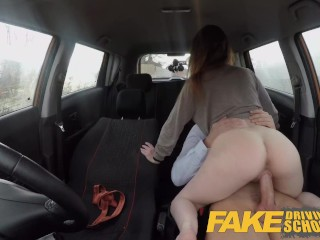 Fake Driving School Ella Huges Fails her Test on Purpose