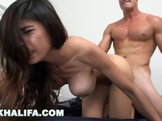 MIA KHALIFA - Lebanese Goddess Sucks Dick In Bathtub, Fucks In Bedroom