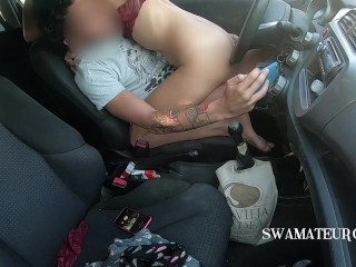 CAR FUCKING - we were caught but we found a second place - SWAmateurCouple