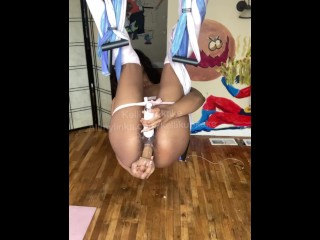 Anal while hanging from the ceiling