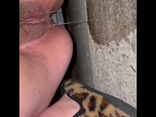 Dripping wet with grool and nice gaping pee