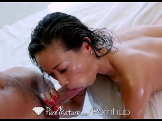 PUREMATURE Dripping Nuru Massage With Mature Kalina Ryu