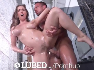LUBED Shower Nympho Lena Paul Turns On Her FREAK
