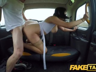 Fake Taxi Drivers big cock sucked and boyfriend fucked with facial finish