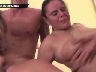 Busty MILF Blowjob and Handjob my Big Dick POV