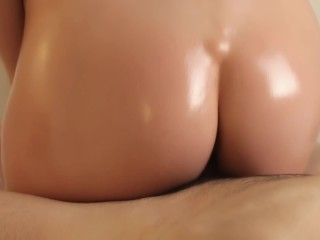 He Came SO HARD in My Tight Pussy - POV Reverse Cowgirl Riding