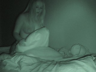 Step sister rides pillow and get strong orgasm (Hidden cam) parents at home