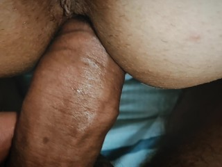 Big saggy tits of a married bitch and dangling from a hard fuck, MILF loves big cock and pussy pain