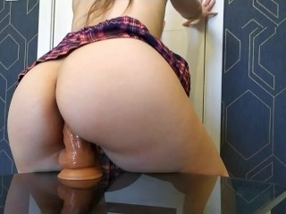Teen riding dildo and cum 4k Invictum attraction