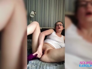 MILF Masturbate Pussy Sex Toys after Reading a Porn Story