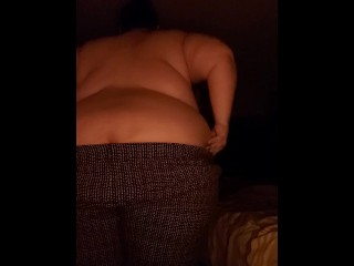 Ssbbw caught on cam taking clothes off