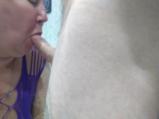 fucked a mature bitch in the mouth and fed her with sperm